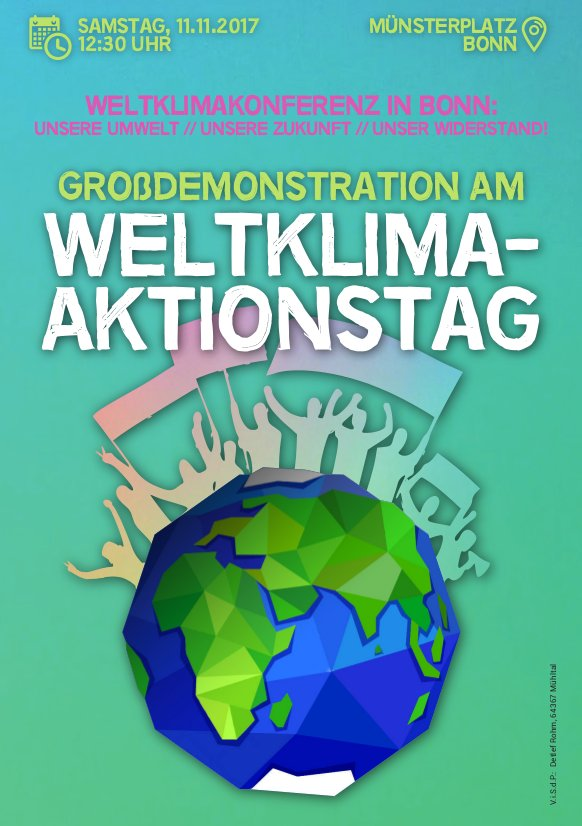 Aufruf zur Großdemonstration am Weltklimaaktionstag